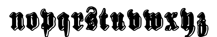 Sinisenharmaa Perkele Font LOWERCASE