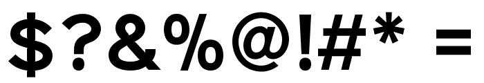 Sinkin Sans 600 SemiBold Font OTHER CHARS