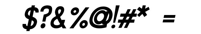 Siple DemiBoldOblique Font OTHER CHARS