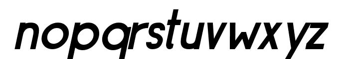 Siple DemiBoldOblique Font LOWERCASE