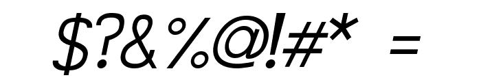 Siple LightOblique Font OTHER CHARS