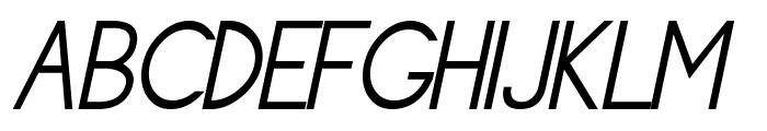 Siple LightOblique Font UPPERCASE