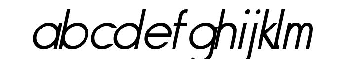 Siple LightOblique Font LOWERCASE