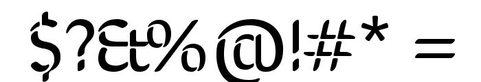 SirinStencil-Regular Font OTHER CHARS