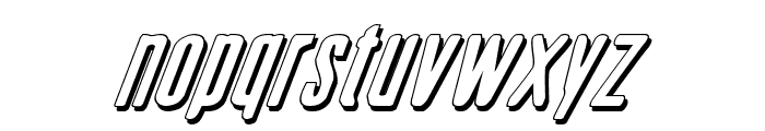 Sister Europe Shadow Italic Font LOWERCASE