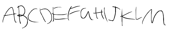 Six yr old rushed Font UPPERCASE