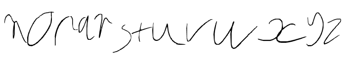 Six yr old rushed Font LOWERCASE