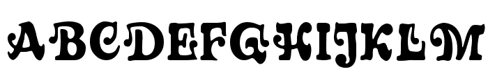Sixties MF Font UPPERCASE
