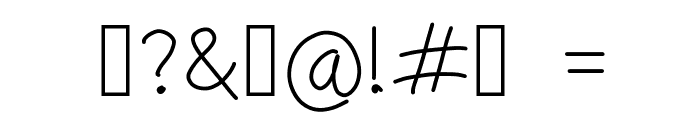 simple Font OTHER CHARS