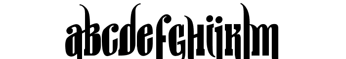 sir william Font UPPERCASE