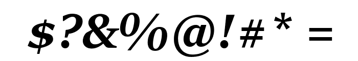 Sitka Banner Bold Italic Font OTHER CHARS