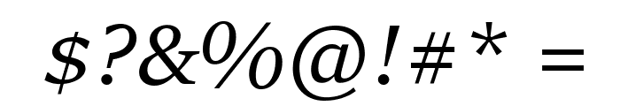 Sitka Heading Italic Font OTHER CHARS
