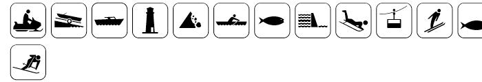 Sign Pix Four Font LOWERCASE