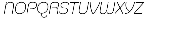 Silicone Extra Light Italic Font UPPERCASE
