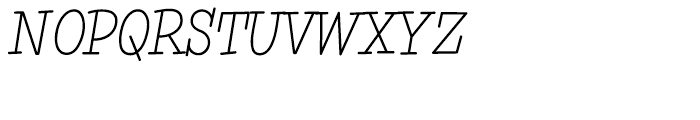 Simple Serif Light Font UPPERCASE