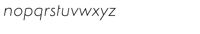Simplo Thin Italic Font LOWERCASE