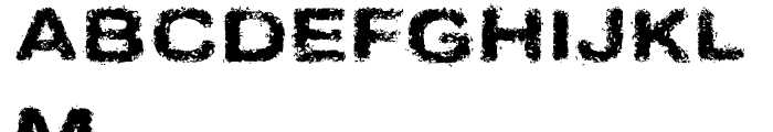 Sinder Normal Font UPPERCASE