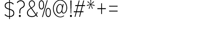 Sinkin Sans Narrow 200 Extra Light Font OTHER CHARS