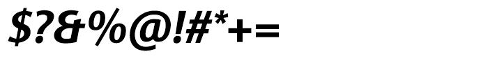 Sinova Bold Italic Font OTHER CHARS