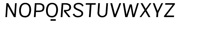 Sintesi Sans Regular Italic Font UPPERCASE