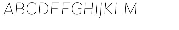 Sintesi Sans Ultra Thin Italic Font UPPERCASE