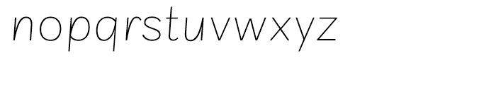 Sintesi Sans Ultra Thin Italic Font LOWERCASE