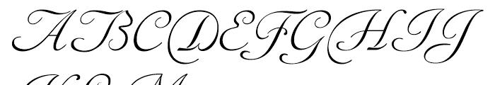 Siren Script I Font UPPERCASE