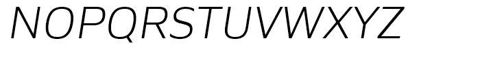 Siro Light Italic Font UPPERCASE
