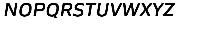Siro SemiBold Italic Font UPPERCASE