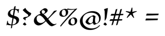 Silentium� Pro Roman II Font OTHER CHARS