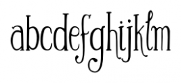 Silhouette Regular Font LOWERCASE