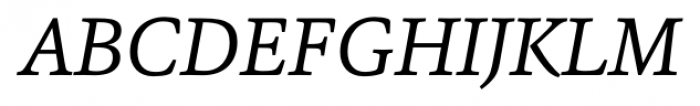 Sina Nova Italic Font UPPERCASE