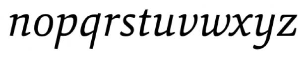 Sina Nova Italic Font LOWERCASE