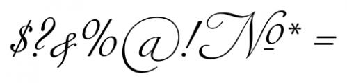 Siren Script Pro Regular Font OTHER CHARS