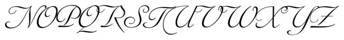 Siren Script Pro Regular Font UPPERCASE