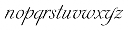 Siren Script Pro Regular Font LOWERCASE