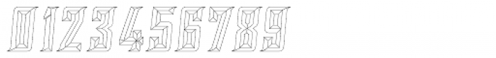 SILVER CHISEL OUTLINE Font OTHER CHARS