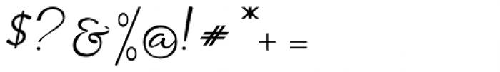 Siantar Script Regular Font OTHER CHARS