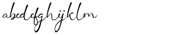 Siantar Script Regular Font LOWERCASE
