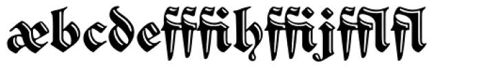 Sibyl_Ligatures Font LOWERCASE