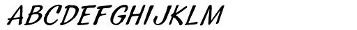 Sideshow Oblique Font LOWERCASE