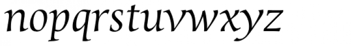 Sierra Italic Font LOWERCASE