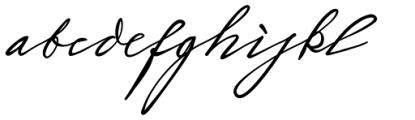 Sigmund Freud Typeface #2 Font LOWERCASE