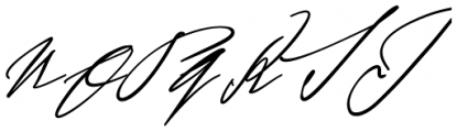 Sigmund Freud Typeface #4 Font UPPERCASE