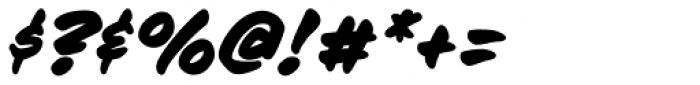 Sign Language Bold Italic Font OTHER CHARS