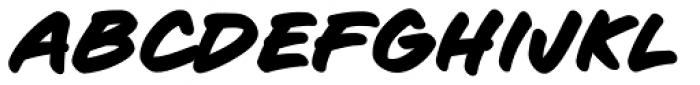 Sign Language Bold Italic Font UPPERCASE