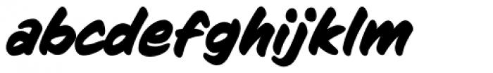 Sign Language Bold Italic Font LOWERCASE