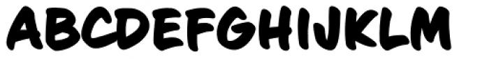 Sign Language Bold Font UPPERCASE