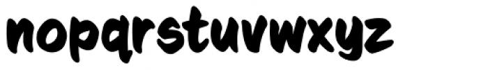 Sign Language Bold Font LOWERCASE