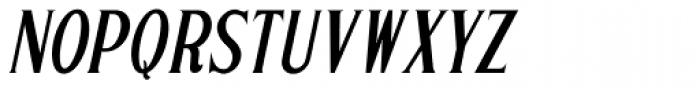 Sign Letters Oblique JNL Font LOWERCASE